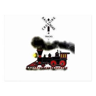 Smokin Locomotive Postcard