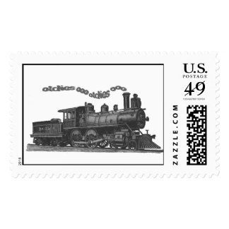 'Smokin Oldies' Train postage stamps