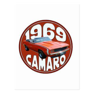 Smokin Orange 1969 Camaro SS Rag Top Postcard