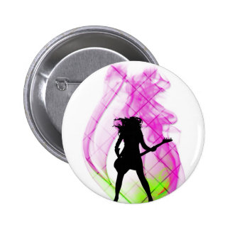 Smokin' Pink Pinback Button