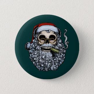 Smokin' Santa Skull Button