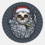 Smokin' Santa Skull Stickers