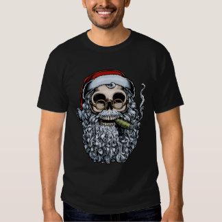 Smokin' Santa Skull T Shirt