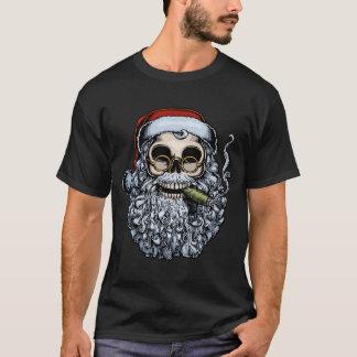 Smokin' Santa Skull T-Shirt