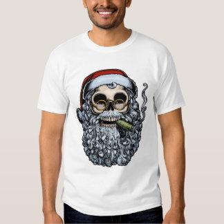 Smokin' Santa Skull Tee Shirt
