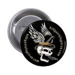 Smokin' Skull Wings Pinback Buttons