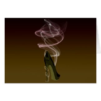Smokin' Stiletto Shoe Art Card