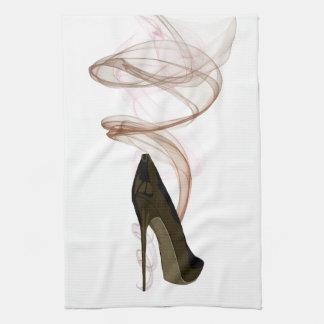 Smokin Stiletto Shoe Art Kitchen Towel