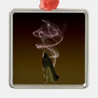 Smokin' Stiletto Shoe Art Metal Ornament