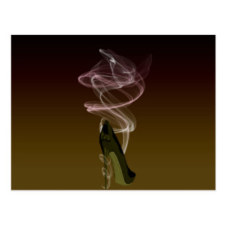 Smokin' Stiletto Shoe Art Postcard