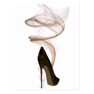 Smokin Stiletto Shoe Art Postcard