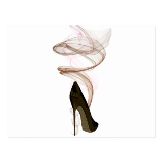 Smokin Stiletto Shoe Art Postcard