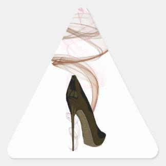 Smokin Stiletto Shoe Art Triangle Sticker