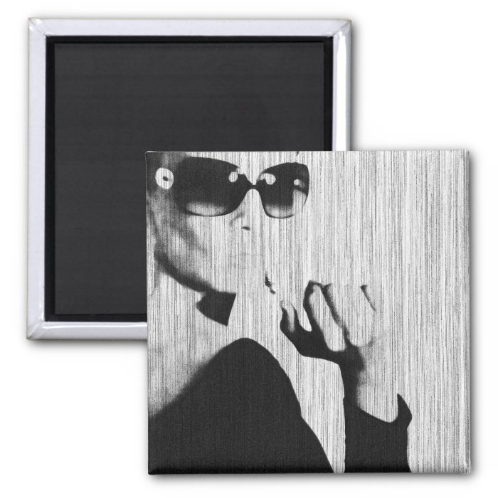 Smoking 2 Inch Square Magnet
