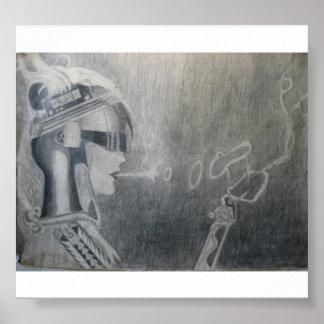 Smoking Anderoid Posters