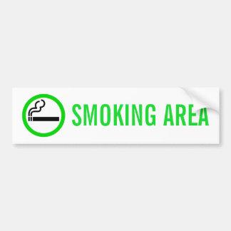SMOKING AREA BUMPER STICKER