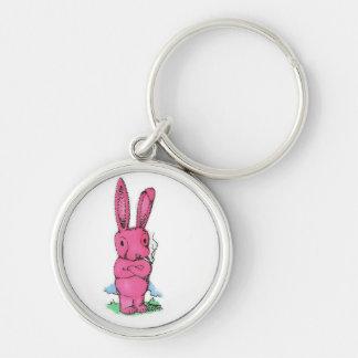 Smoking Bad Pink Bunny Keychain