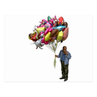 Smoking Balloon Salesman Postcard