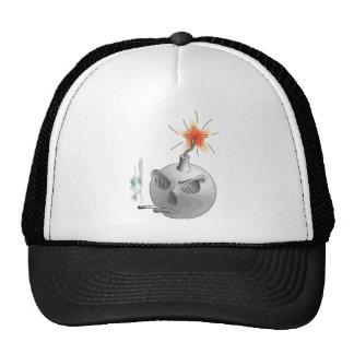 Smoking bomb mesh hats