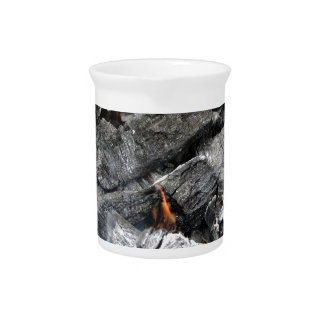 Smoking burning charcoal drink pitcher
