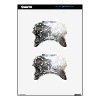 Smoking burning charcoal on barbecue xbox 360 controller skins