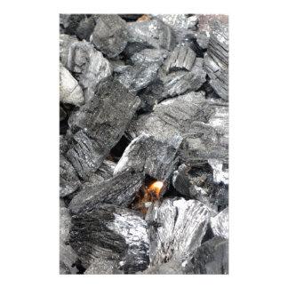 Smoking burning charcoal stationery