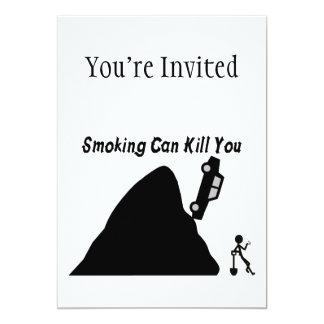 Smoking Can Kill You 5x7 Paper Invitation Card