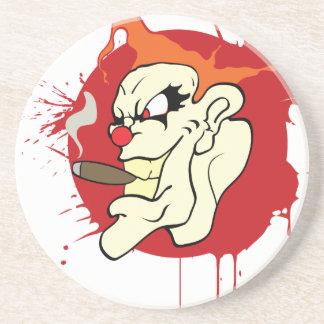 Smoking Clown Coaster
