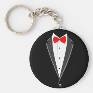 smoking costume tuxedo black elegant suit keychain