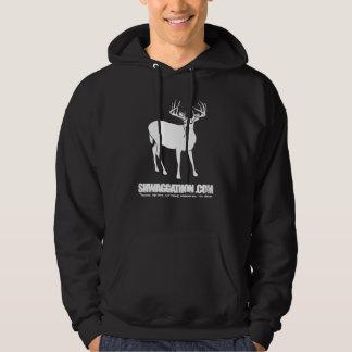 Smoking Deer Black Hoodie