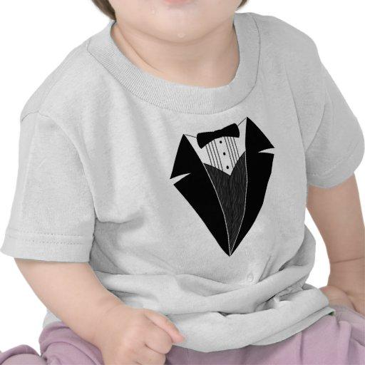 Smoking del bebé, negro + Blanco Camisetas