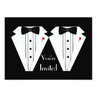 Smoking del boda de dos Novio-Gays Invitación 12,7 X 17,8 Cm