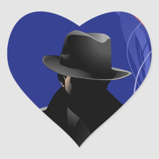 Smoking Detective Heart Sticker