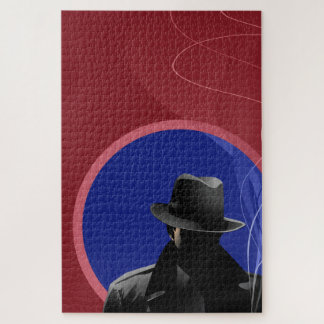 Smoking Detective Jigsaw Puzzle