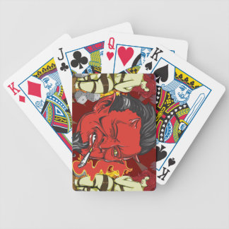 Smoking Devil Bicycle Playing Cards