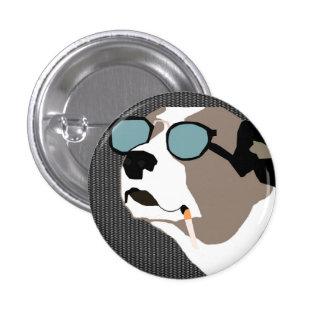 Smoking dog button