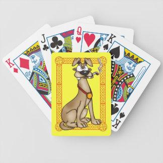 Smoking Dog Playing Cards
