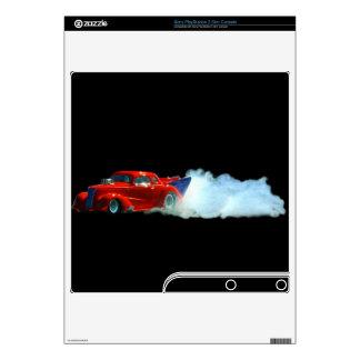 Smoking Doorslammer Drag-car Playstation 3 Skin Decals For PS3 Slim