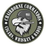 Smoking Eagle Round Round Sticker