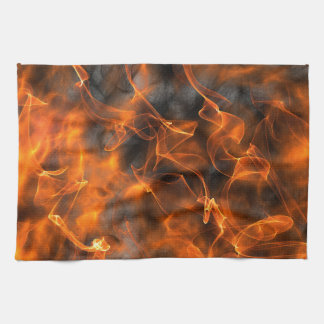 Smoking Flames of Fire Kitchen Towel