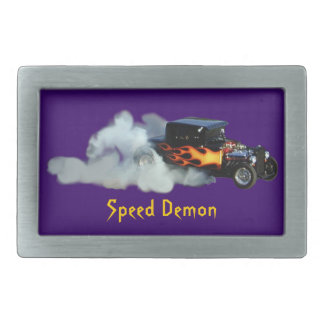 Smoking Flaming Drag Car Speedway Drivers Buckle Belt Buckle