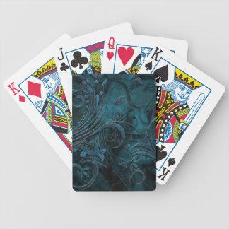 Smoking floral design bicycle playing cards