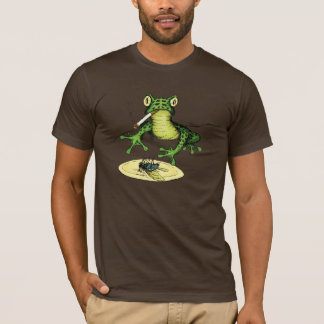 Smoking Frog with a Plate of Fly T-Shirt