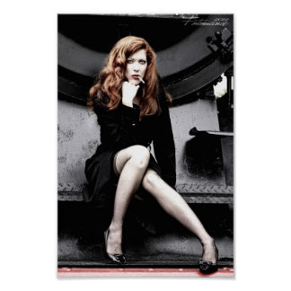 smoking girl póster