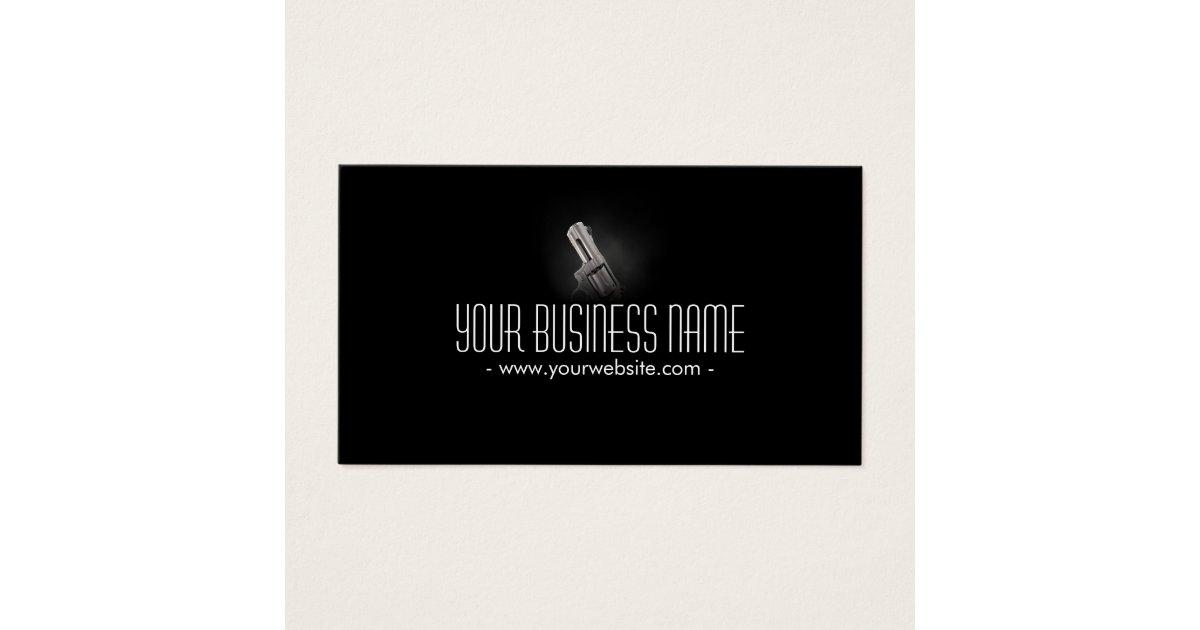 Smoking Gun Bouncer Bodyguard Security Business Card | Zazzle.com