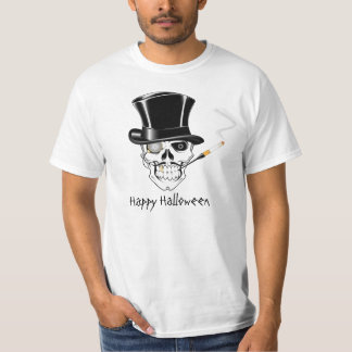 Smoking Halloween Skull With Top Hat