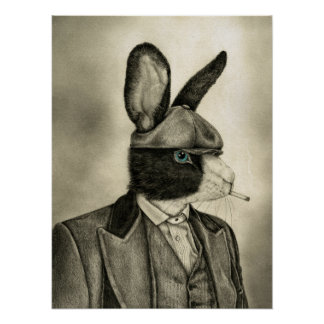 Smoking Hare Poster
