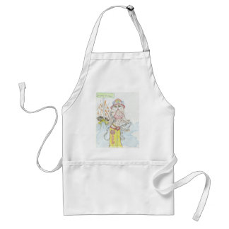Smoking hot Fire fighting bunny.jpg Adult Apron
