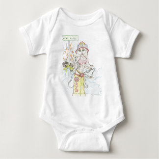 Smoking hot Fire fighting bunny.jpg Baby Bodysuit