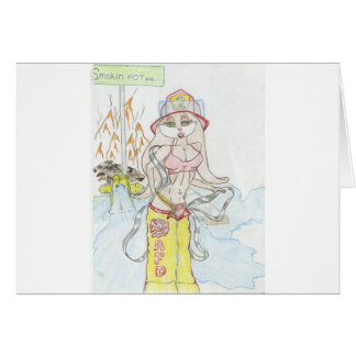 Smoking hot Fire fighting bunny.jpg Card